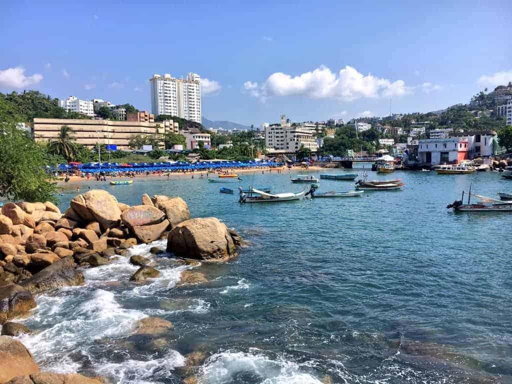 Caleta beach in Acapulco Traditional Zone